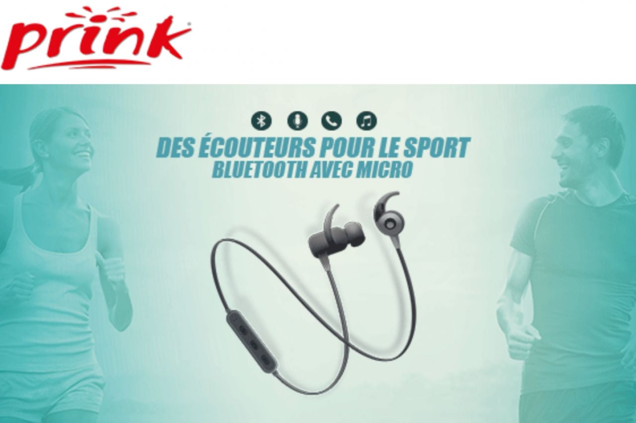Prink - Ecouteurs Bluetooth
