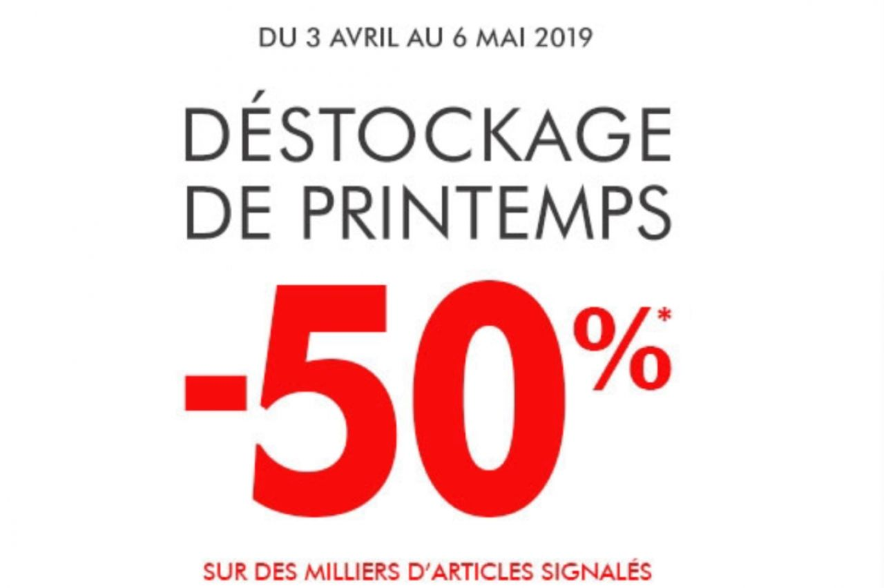Gémo - Destockage de printemps