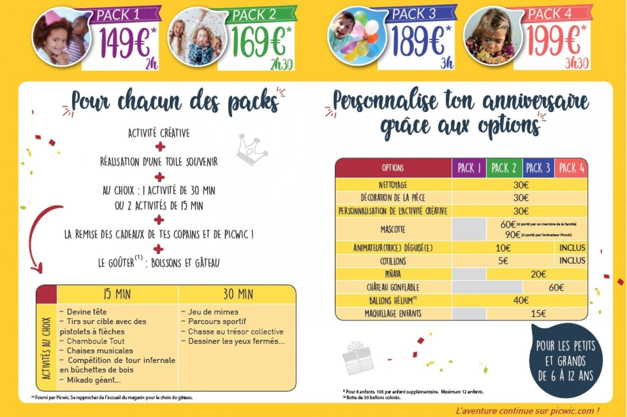 Picwic - Organise ton Anniversaire